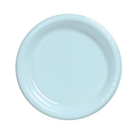Club Pack of 240 Pastel Baby Blue Premium Disposable Plastic Party Banquet DInner Plates 10
