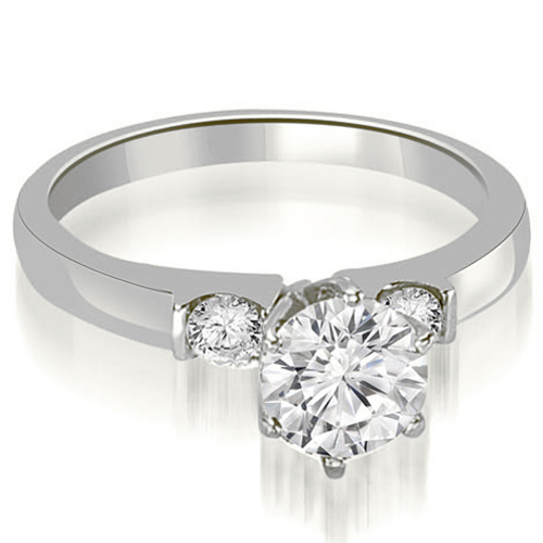 0.80 CT.TW Round Cut Diamond Engagement Ring in 14K White, Yellow Or Rose Gold