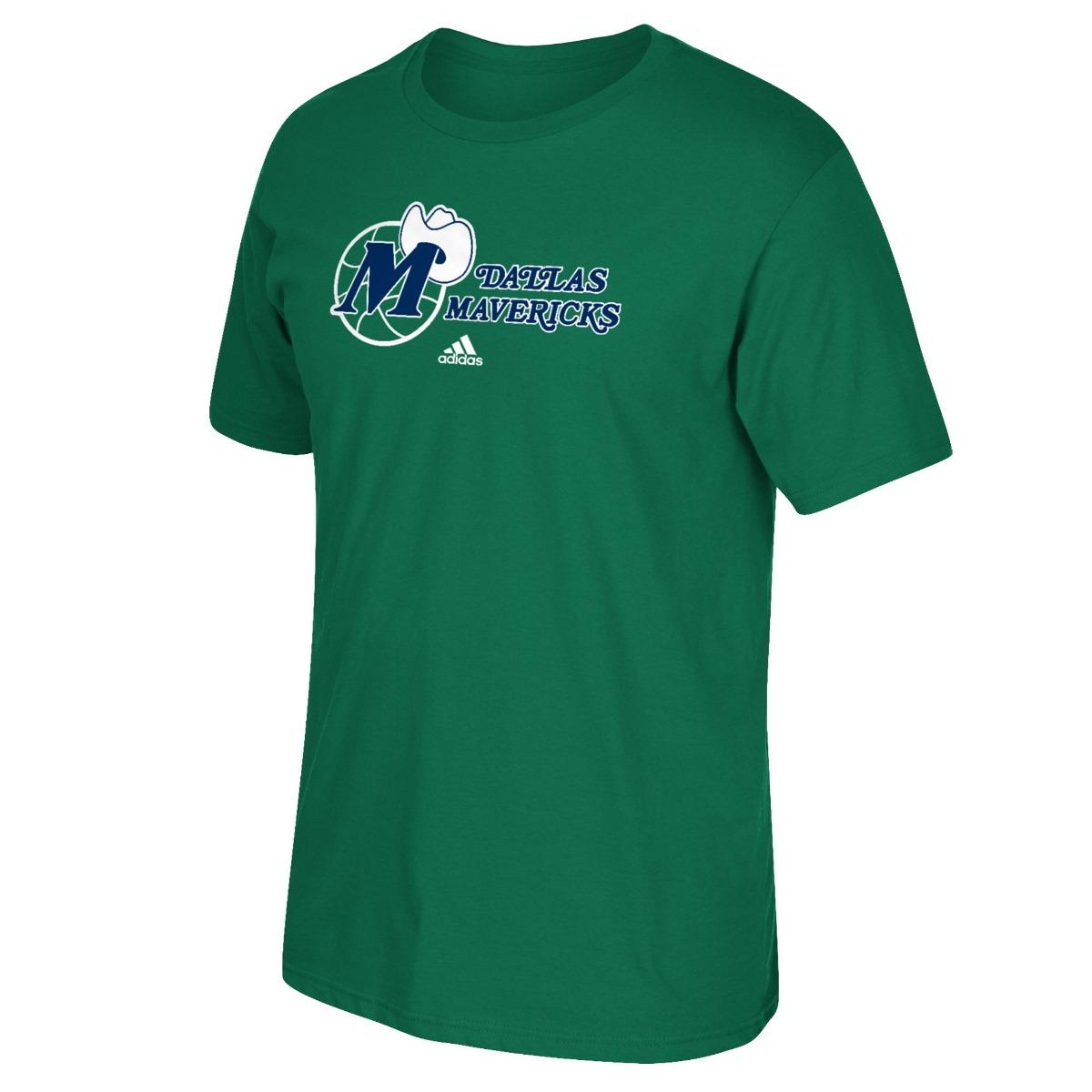 "Dallas Mavericks Adidas NBA Hardwood Classic ""Logo Hook"" Men's S/S T-Shirt"