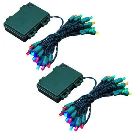 led battery operated string lights 25 lights 2 count. Black Bedroom Furniture Sets. Home Design Ideas