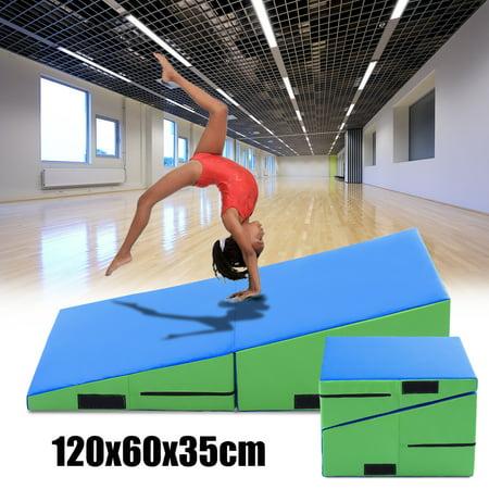 Incline Gymnastics Mat Wedge Folding Cube Mounting Yoga