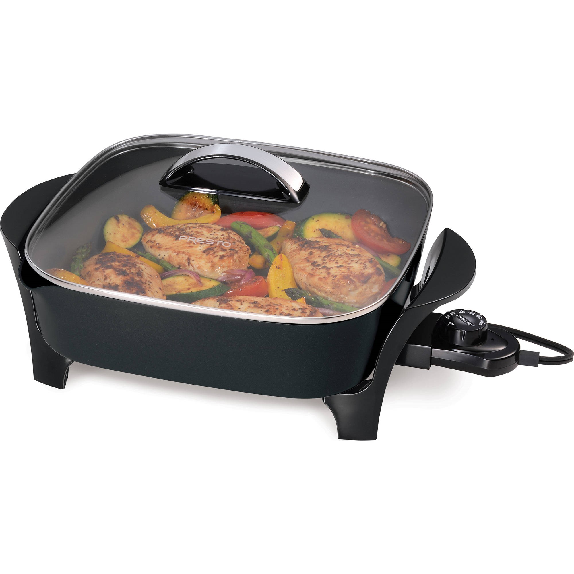 Presto 12-inch Electric Skillet with glass cover 07117