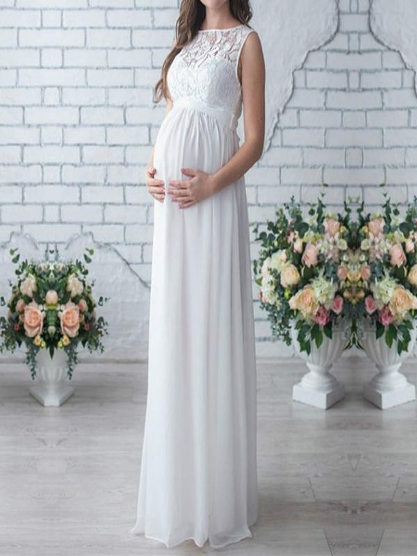 Pregnant Women Long Maxi Dress Maternity Gown Party Photography Props Clothes
