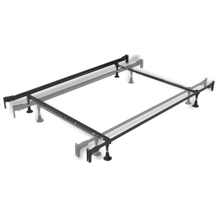 Fixed Bead Ring (Engineered Adjustable PL834G Bed Frame with Fixed Head & Food Panel Brackets and (4) Glide Legs, Twin - Full )