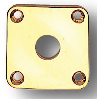 Allparts Jackplate for Les Paul, Gold