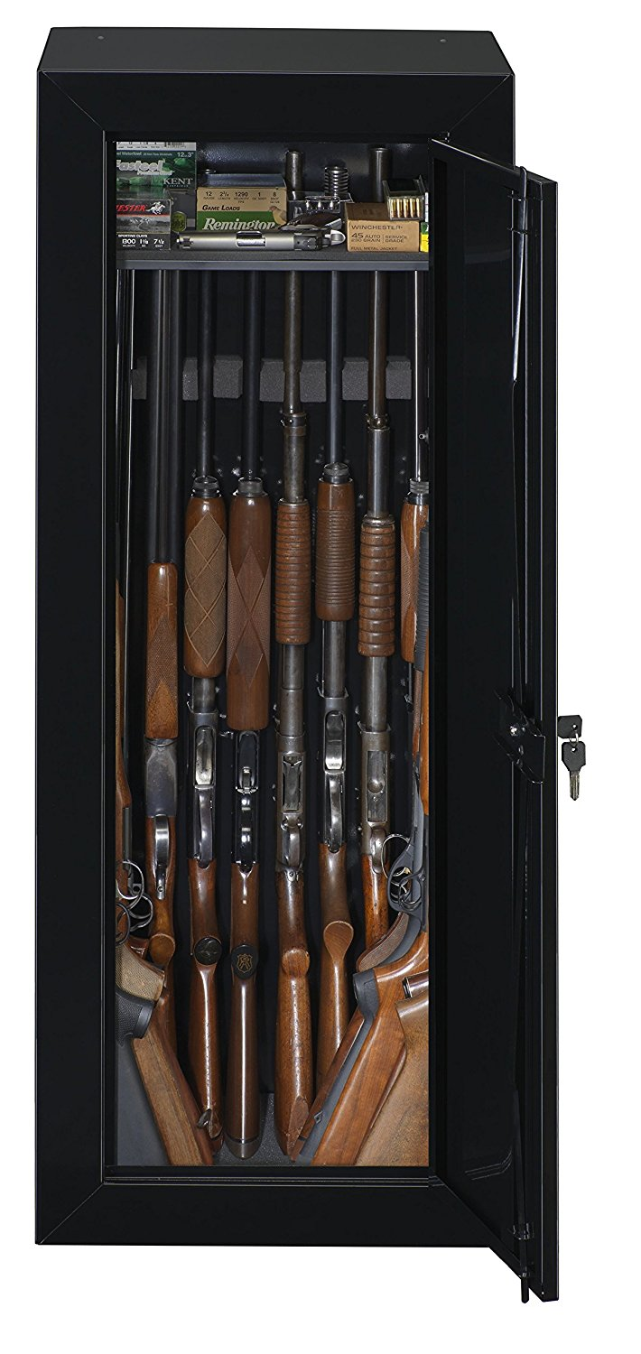 Gun Security Cabinet >> Stack On 22 Gun Steel Security Cabinet Black Ebay