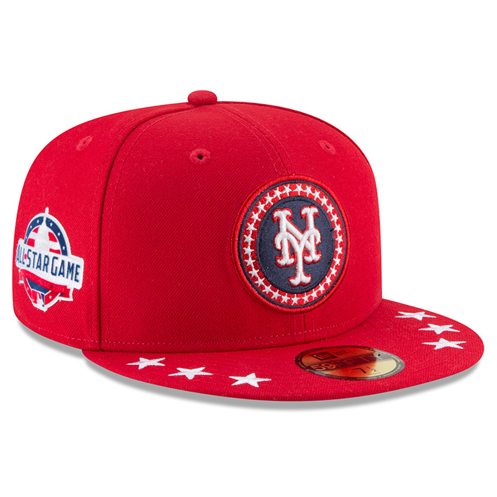 New York Mets New Era 2018 MLB All-Star Workout On-Field 59FIFTY Fitted Hat - Red