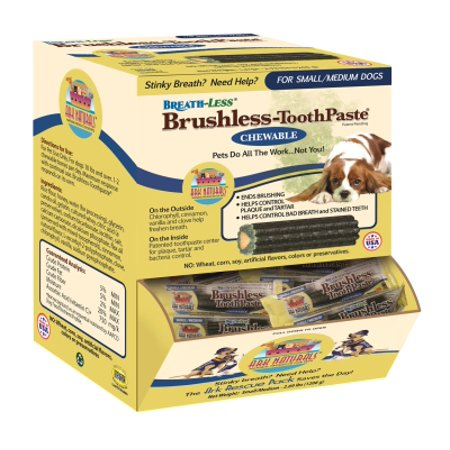 (Ark Naturals Breath-Less Brushless Toothpaste Dental Dog Treat, 60/Box)
