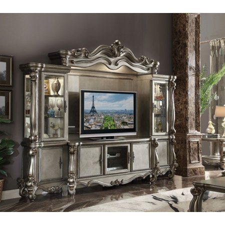 Platinum Center (Acme Versailles Entertainment Center in Antique Platinum Finish)