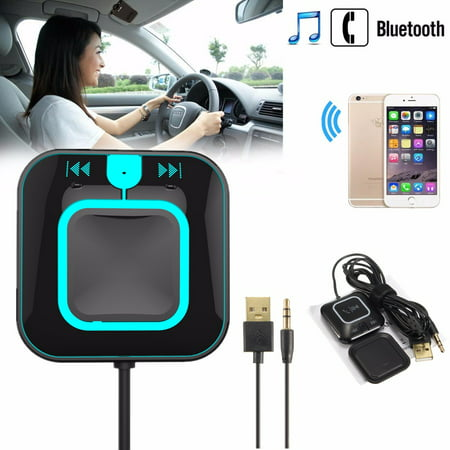 M.Way ZF-850 2in 1 bluetooth Transmitter Receiver Kit with 3.5mm AUX Stereo Audio Adapter NFC-Enabled Handsfree For Sound System/Mobile