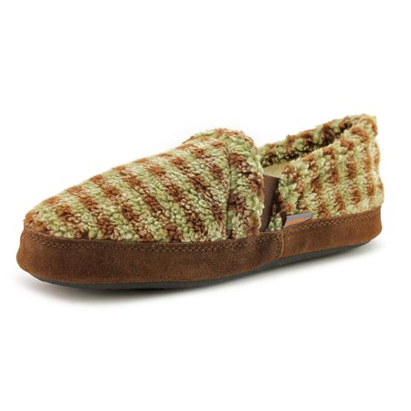 Image of Acorn Kids Colby Gore Youth Round Toe Canvas Brown Slipper