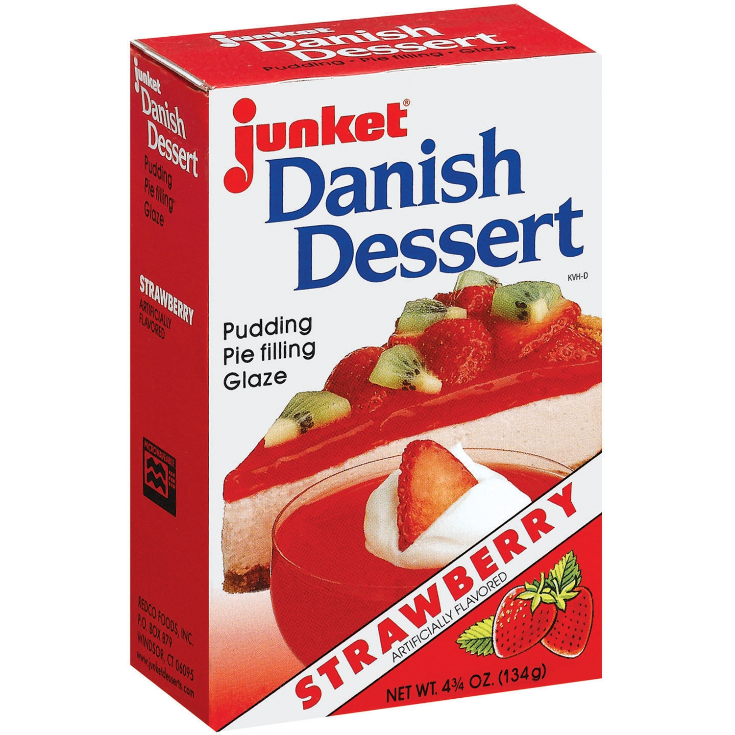 Junket Strawberry Danish Dessert 4.75 Oz Box
