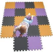 HTAIGUO Children Puzzle mat Play mat Squares Play mat Tiles Baby mats for Floor Puzzle mat Soft Play mats Girl playmat Carpet Interlocking Foam Floor mats for Baby Orange Purple Grey 102111112