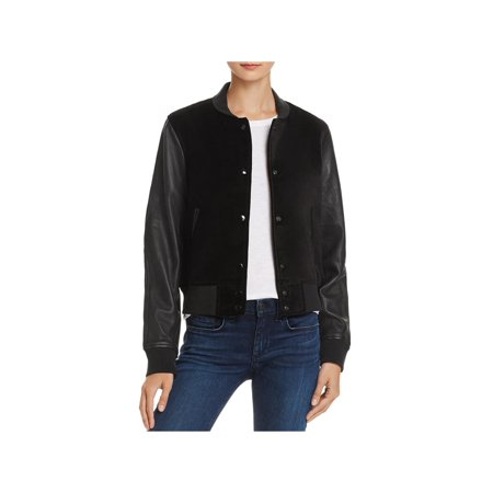 Rag & Bone Womens Camden Leather Faux Suede Varsity Jacket