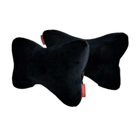 2 Packs Premium Memory Foam Car Seat Head Rest Support Pillow Neck Pain Relief Bone Travel Cushion