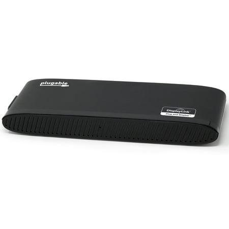 Plugable DisplayLink Dual Monitor Horizontal Docking Station - USB to HDMI,