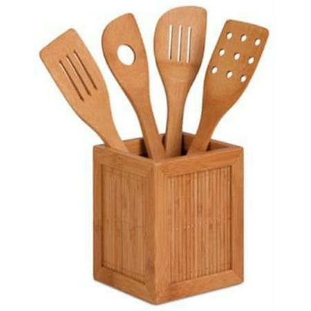 bamboo utensils kitchen caddy bamboo a bamboo veneer utensil holder - Kitchen Caddy