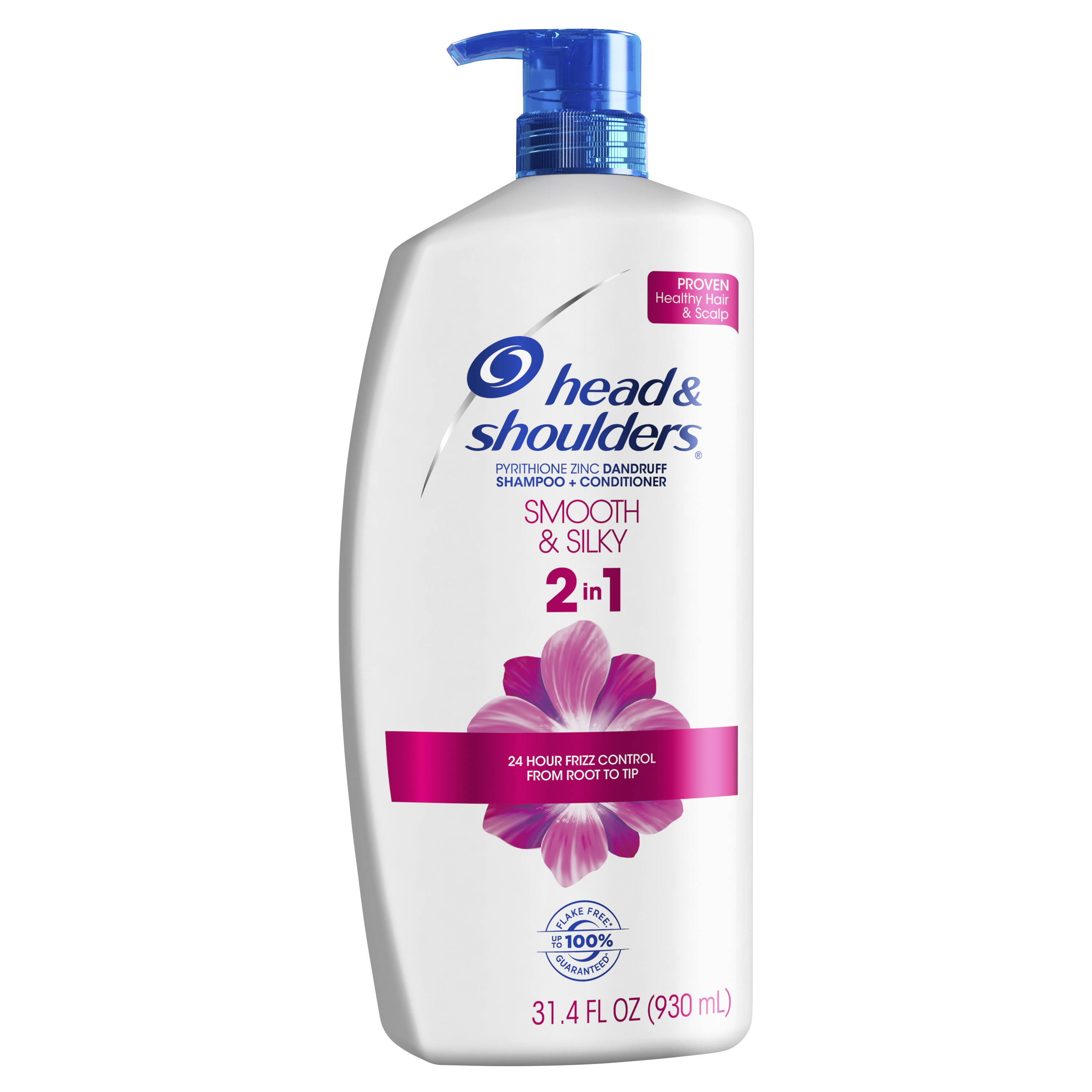 Head and Shoulders Smooth & Silky 2in1 Dandruff Shampoo and Conditioner, 31.4 fl oz