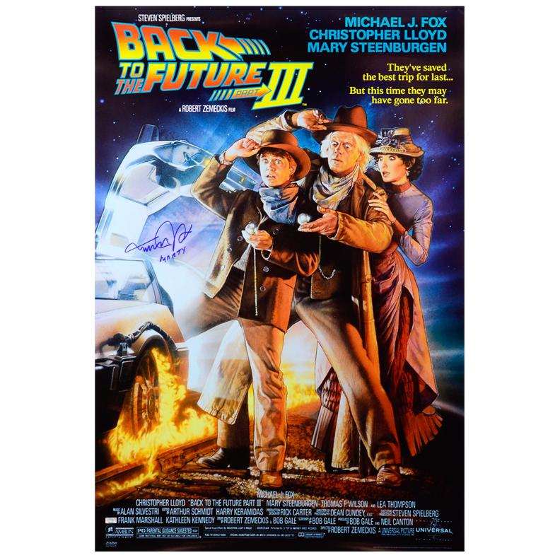 Michael J. Fox 27x40 Back to the Future Part III Poster