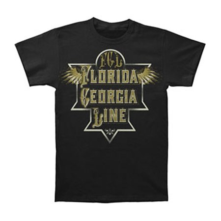 Florida Georgia Line Men's  Etched Plate Wings T-shirt