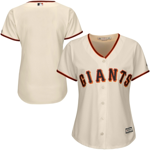 San Francisco Giants Majestic Women's Plus Size Cool Base Jersey - Cream