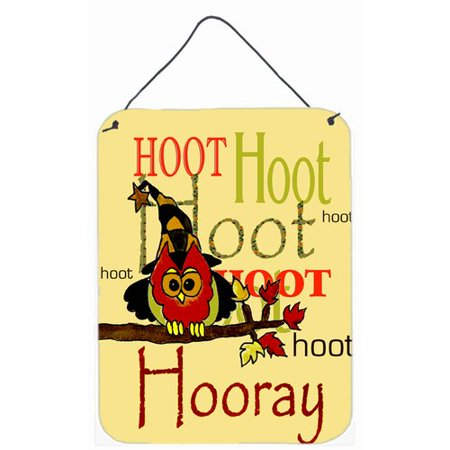 Own Plaque Kit (Caroline's Treasures Hoot Hoot Hooray Owl by Jamie Carter Graphic Art Plaque )