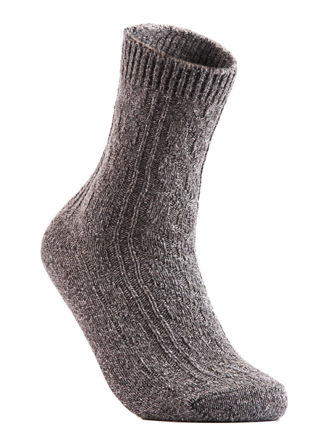 Big Girl's Women's 6 Pairs Pack Fashion Soft Wool Crew Socks One Size AHR1613(Tan)