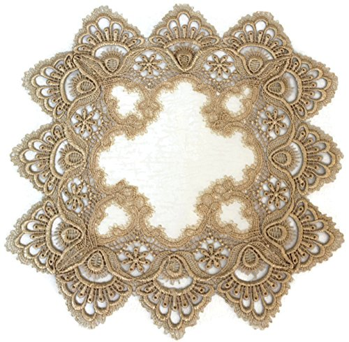 home decor cream Square doily centerpiece lace table placemats knitted square doily napkin lace tablecloth 32cm white 12.6