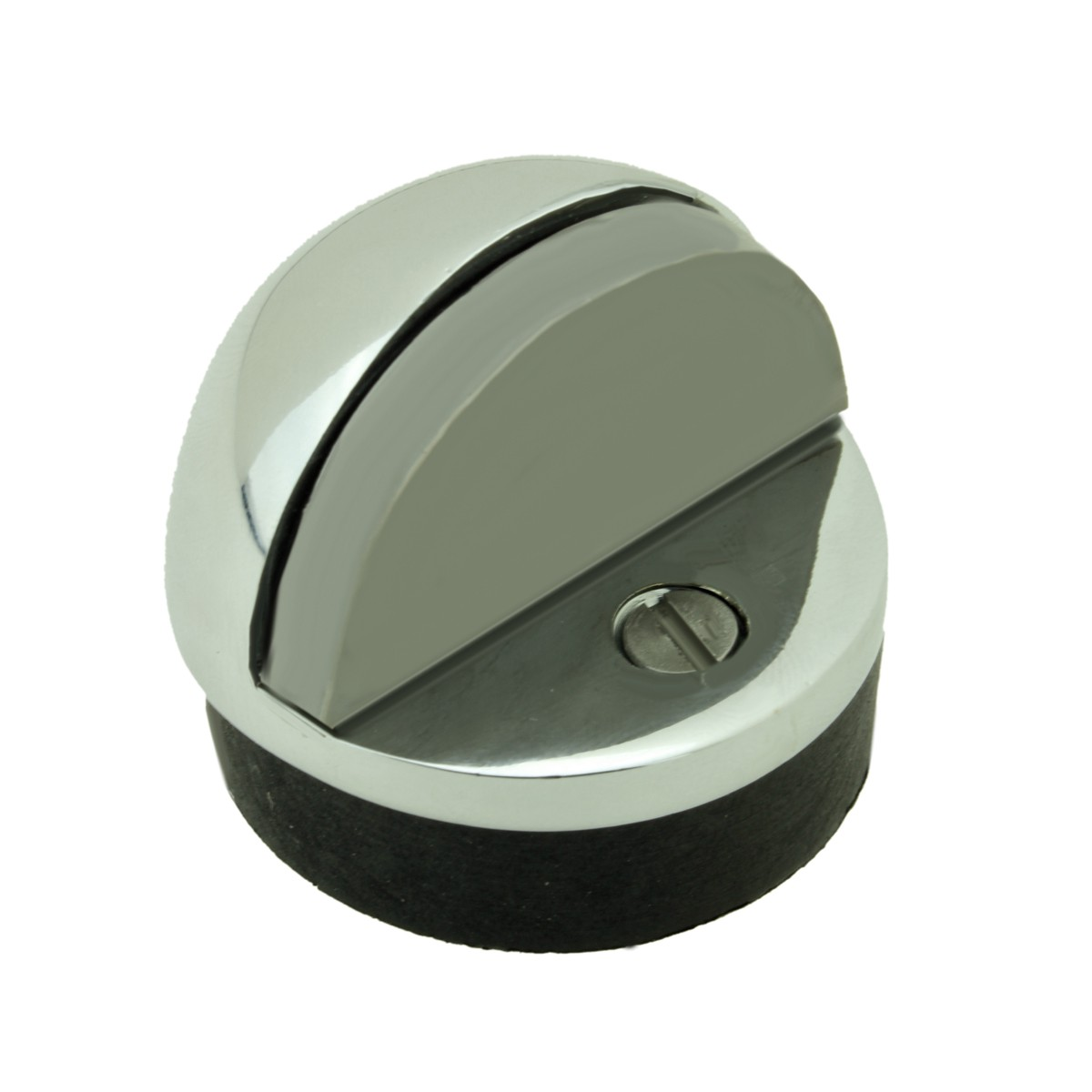 Brass Door Stop Chrome Dome Floor Mount Bumper Low Profile Screws Included