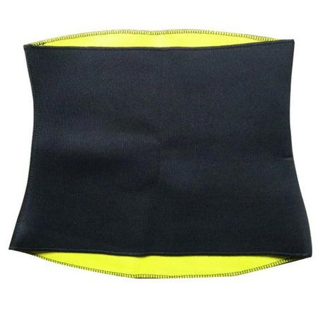 Neoprene Belt Hot Neoprene Gym Waist Trainer Shaper Sweat Slimming Belt Waist Cincher Girdle Weight Loss Women & Men FREE Eyeglass Pouch by Juniper's Secret (Small - US (The Best Girdle In The World)