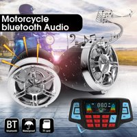 Waterproof Motorcycle Remote Control Audio FM Radio System Stereo Speaker MP3 Player