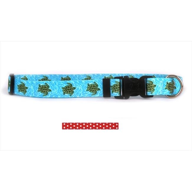 Yellow Dog Design New Polka Dot Standard Collar - Large