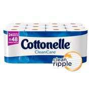 Cottonelle Clean Care Double Roll Toilet Paper, 190 sheets, 24 ct