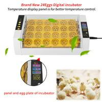 Garosa 24 Eggs Incubator Temperature Control Digital Automatic Chicken Chick Duck Hatcher, Incubator Hatcher,Incubator