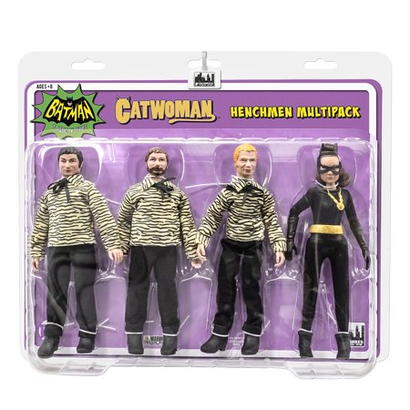 Batman Classic TV Series Action Figures: The Catwoman [Eartha] and 3 Henchman Figures Four-Pack (Classic Catwoman)