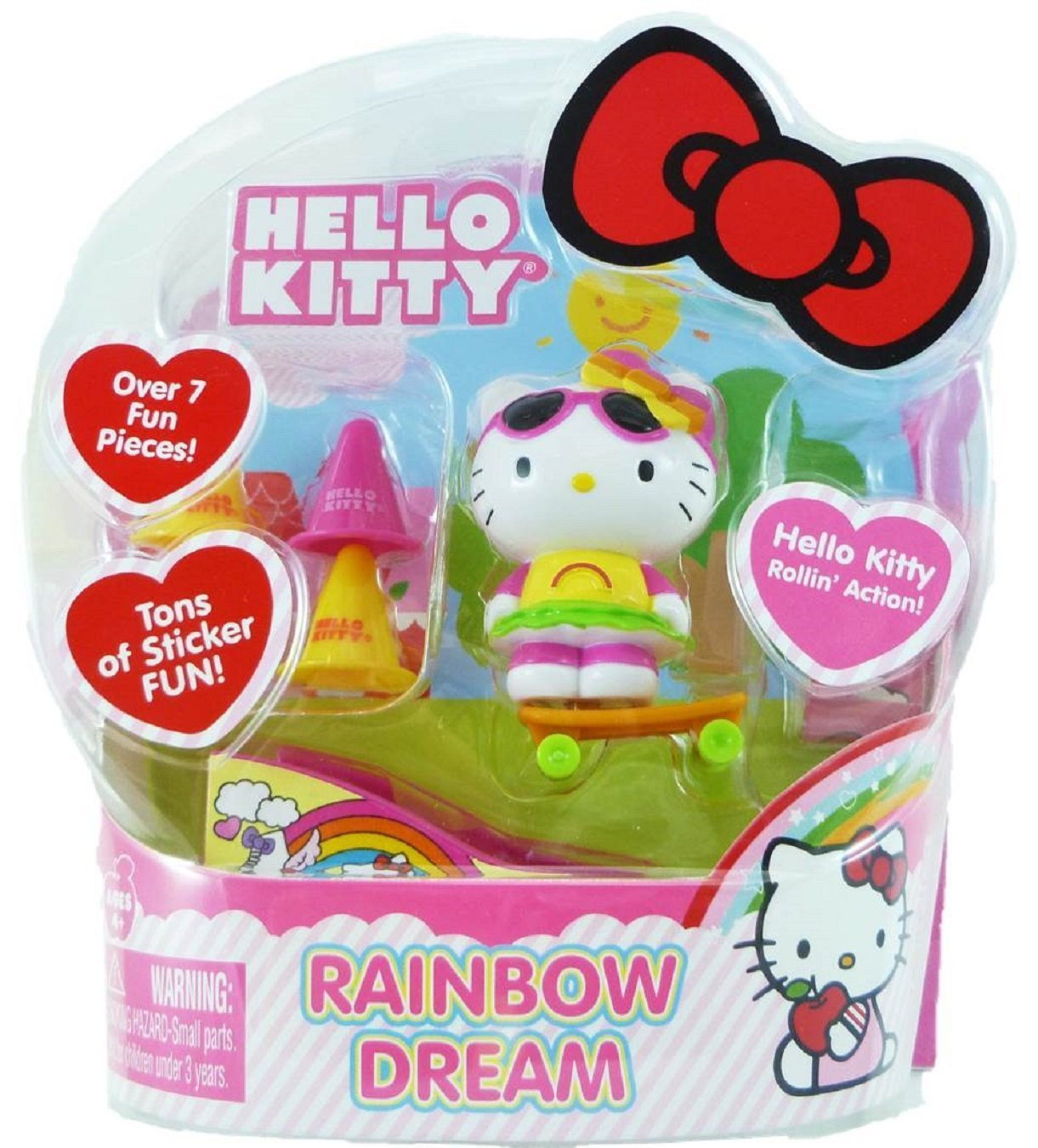 Hello Kitty Rollin' Action Mini Figure- Rainbow Dream by
