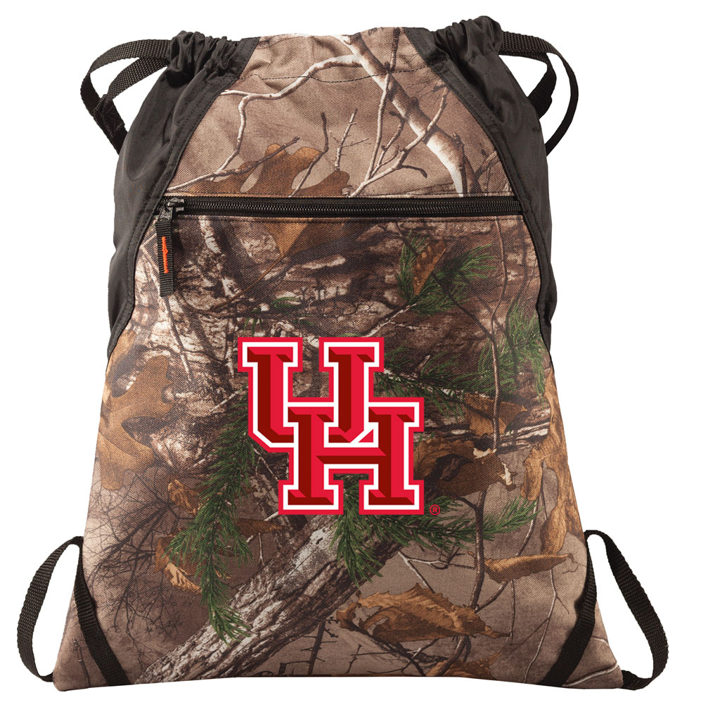 RealTree Camo UH Cinch Pack Backpack Official UH Camo Drawstring Backpack for Him or Her