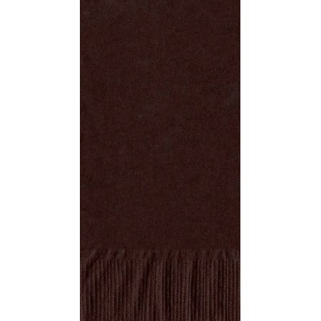 50 Plain Solid Colors Dinner Hand Towel Napkins Paper - Brown