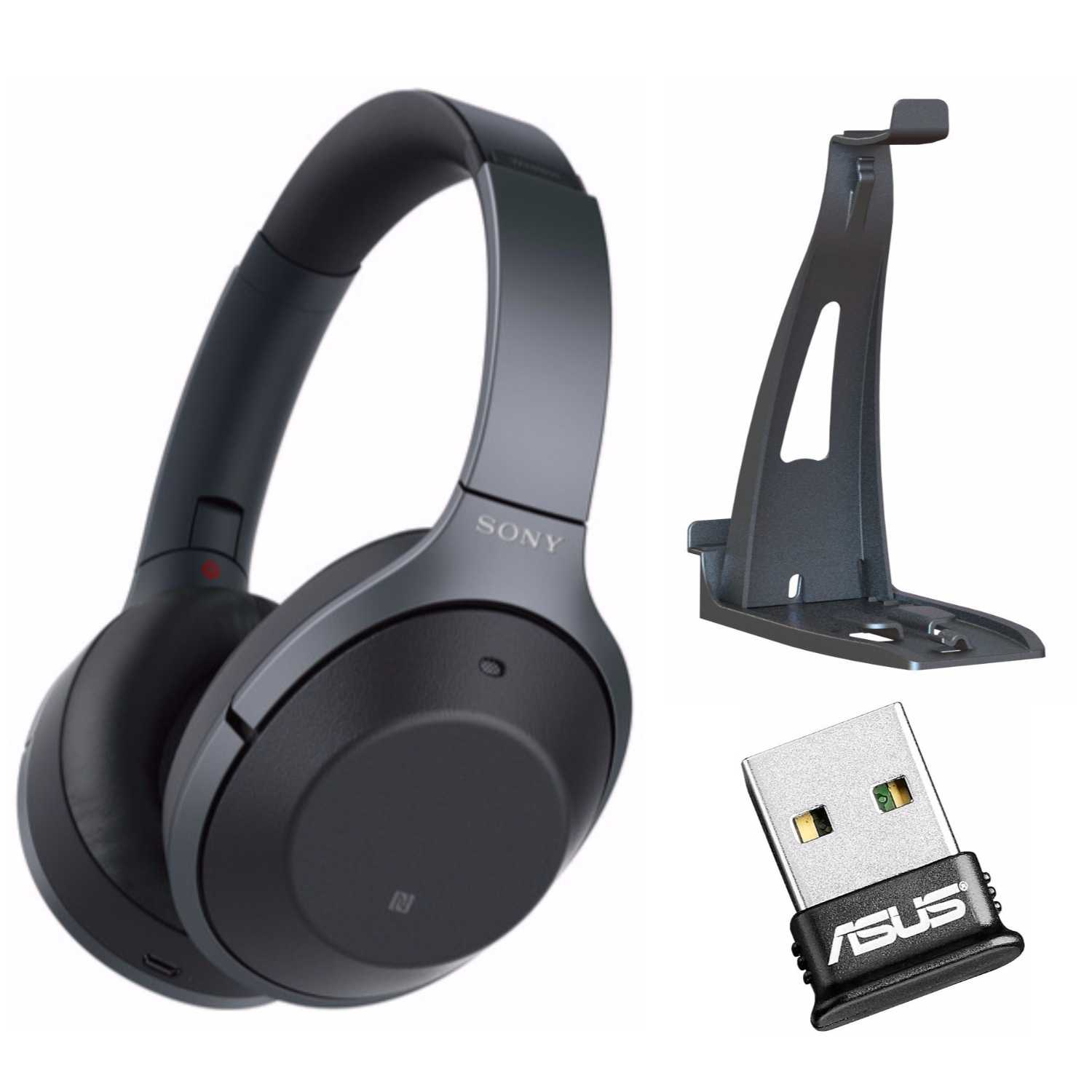 Sony WH1000XM2 (Black ) Premium Noise Cancelling Wireless Headphones  Bundle