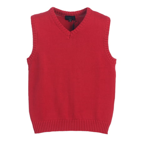 a37ea893c4604 Boy s V-Neck Knitted Pullover Sweater Vest