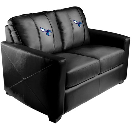 Charlotte Hornets NBA Silver Love Seat with Secondary Logo Panel