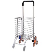 84f60c56c65f Folding Shopping Cart, Stair Climbing Grocery Laundry Utility Cart ...