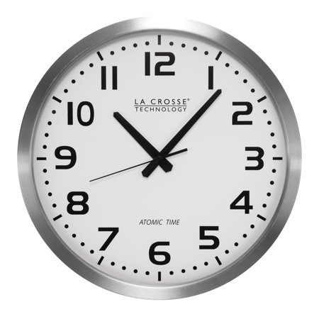 La Crosse Technology WT-3161WH 16 Inch Stainless Steel Atomic Clock
