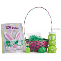 "Bunny Fun Specs & Cup Rabbit Kids Boys Girls 24pc 14"" Easter Basket Gift Set"
