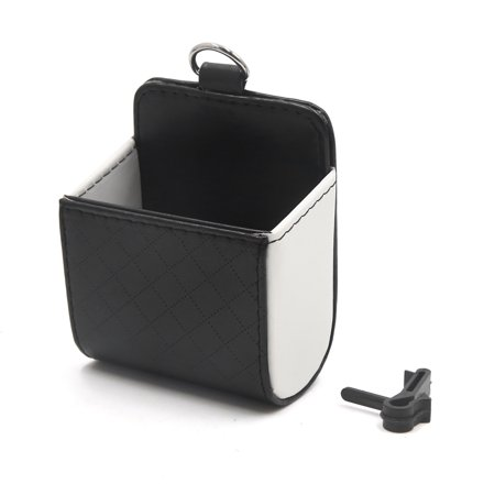 Black White Phone Pocket Multi-functional Pouch Car Air Vent Storage Holder Bag - image 3 of 3