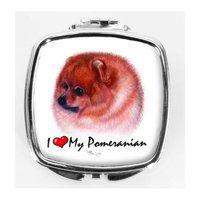 I Love My Pomeranian Compact Mirror