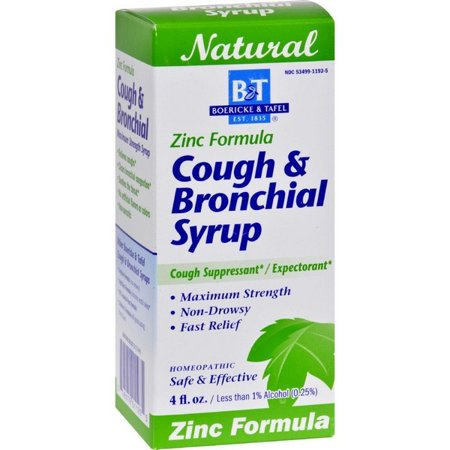 Zinc Syrup (Boericke And Tafel Cough And Bronchitis Syrup With Zinc - 4 Oz)