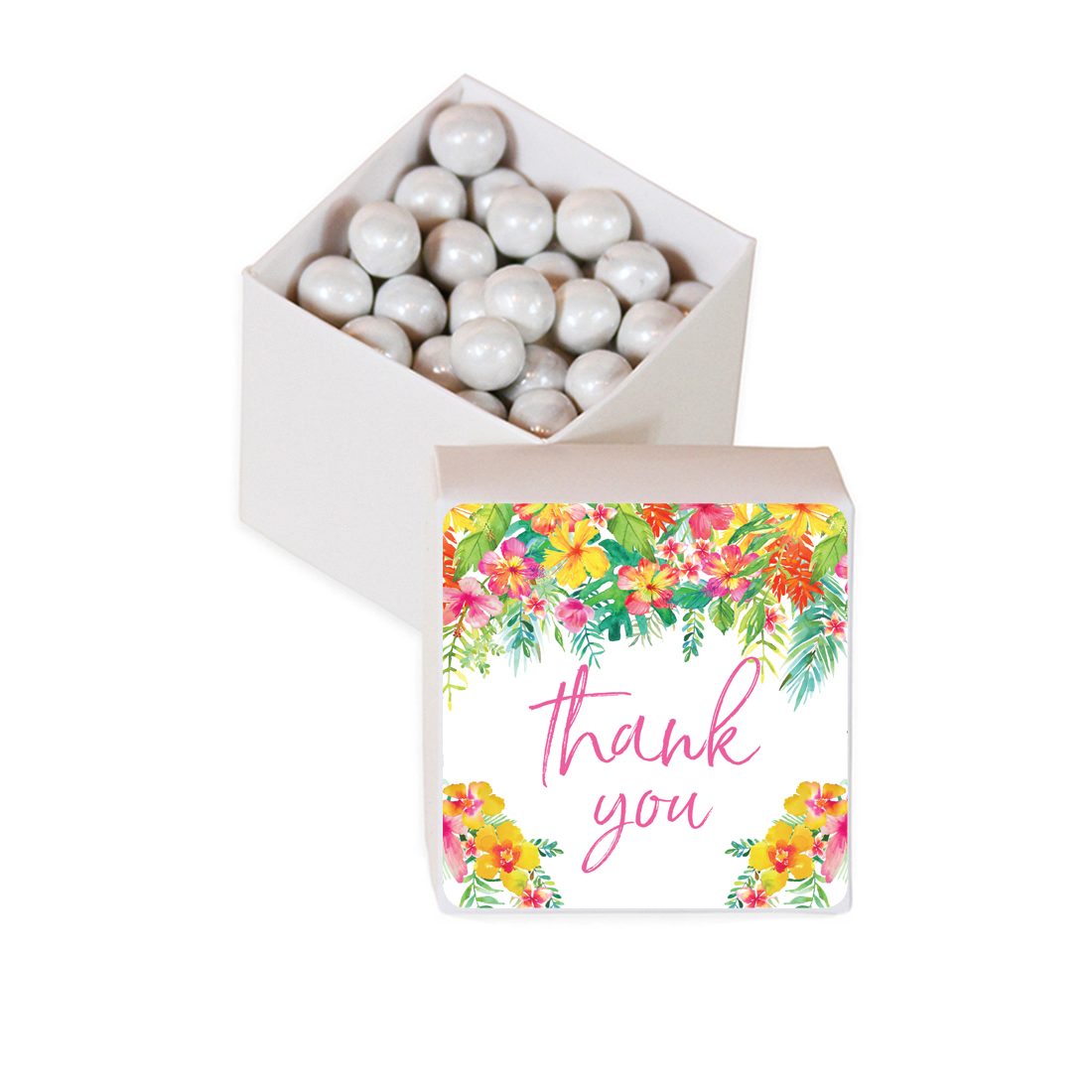 Tropical Floral Garden Party Wedding, Favor Box DIY Party Favors Kit, Thank You, 20-Pack