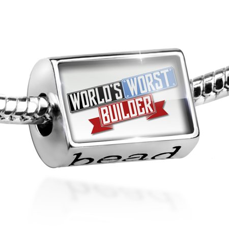 Bead Funny Worlds worst Builder Charm Fits All European Bracelets - Funny Body Builder