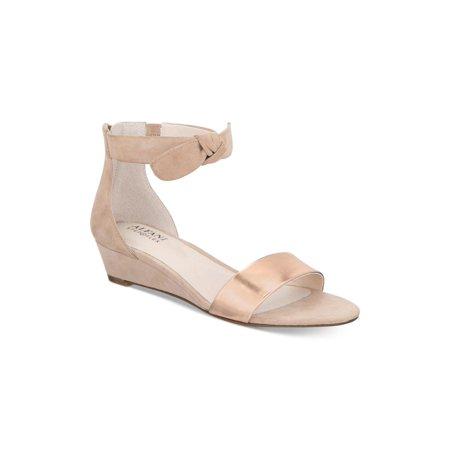 48571f087c Alfani - Alfani Womens Tamirr Leather Open Toe Casual Ankle Strap Sandals -  Walmart.com